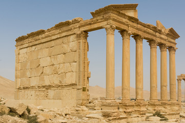 Ancient Roman time town in Palmyra, Syria