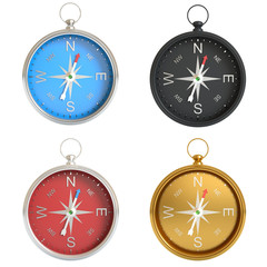 A set of compasses isolated on white background