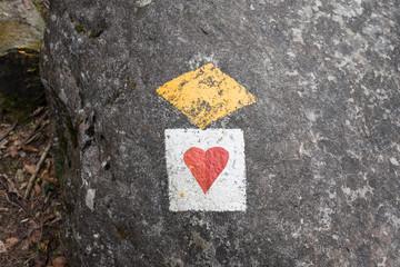 Wanderweg Herz