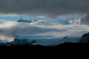 Rime Peak seen from Kennicott Glacier, Alaska, USA