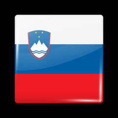 Flag of Slovenia. Glossy Icons