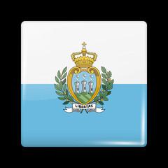 Flag of San Marino. Glossy Icons