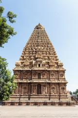 Inside the Brihadishwara temple in Tanjore (Thanjavur) in India