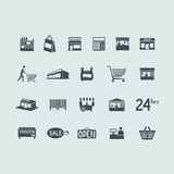 Set of store icons - 81433620