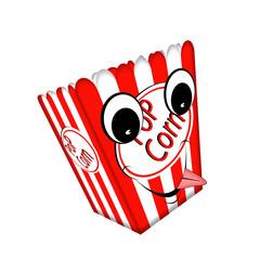 Illustration of a pop corn box.