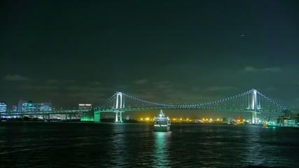 Tokyo bayside night scape.
