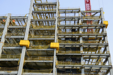 tall buildings under construction