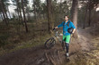 ATB cyclist in the woods