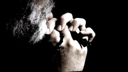 Religion pray silhouette artificial