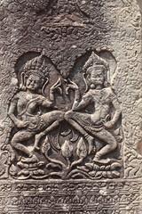 Particolare bassorilievo tempio di Angkor