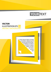 abstract background yellow square