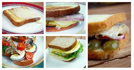 set of different   Sandwich