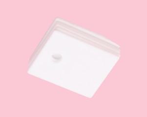 ceramic insulator on isolated Pink Background