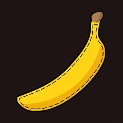 yellow lockstich banana with shadow