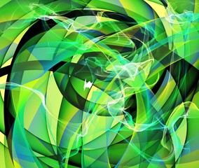 Abstract green shape background or texture