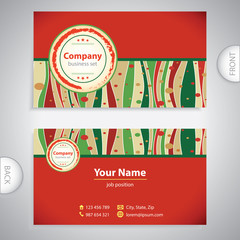 business card - Italian menu - retro antique template