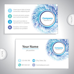 business card - science and research - windmill