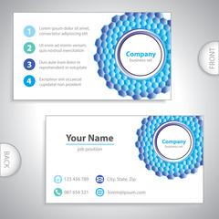 business card - molecular grid - laboratory research - molecular