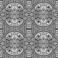 Black and white seamless pattern, hand drawing background