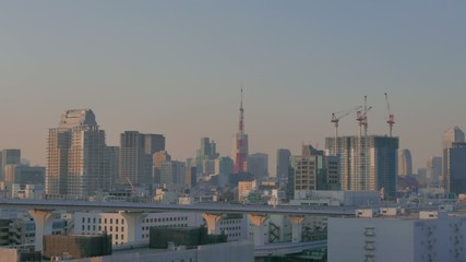 Tokyo Tower and construction in the building