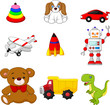 Illustration of Kid's toy collection - 81438030