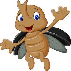 Cartoon stag beetle
