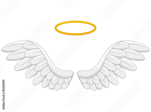angel wings cartoon - 81438049