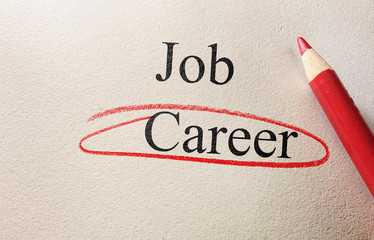 Career red circle