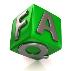 Green faq cube