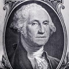 Close-up Washington on US one dollar bill