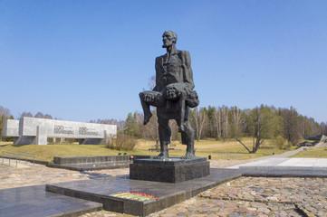 "Sculpture ""Invictus."" The memorial complex Khatyn."