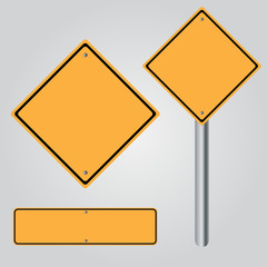 traffic sign , yellow sign Isolated road warning