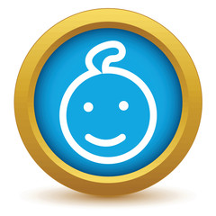 Gold baby icon