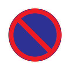 No Parking Stoping Sign Vector