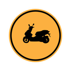 Traffic sign . motor vehicles sign