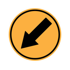 Warning Sign Keep Left Sign