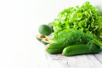 Mix of green vegetables