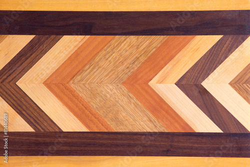 Decorative marquetry on a cutting board - 81440689
