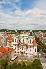 Saint Nicholas Cathedral in Prague.