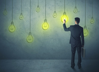 hanging lighting bulbs