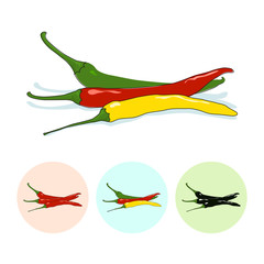 Icons hot chili pepper