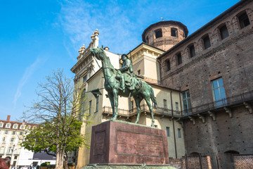 The monument to Cavalieri d'Italia in Turin