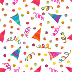 seamless pattern with birthday hats
