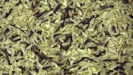 Heap of rotating mixed Rice (not seamless loopable)
