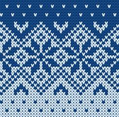 Knitted jacquard pattern