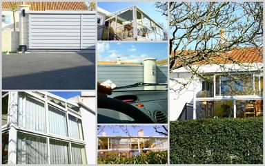 composition,entrée ,portail,maison et véranda