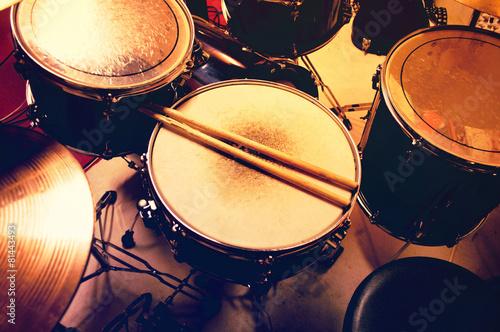 Leinwanddruck Bild Drums conceptual image.