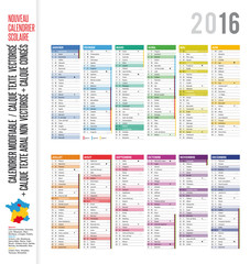 Calendrier 2016 / MODIFIABLE