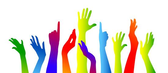 comunità,  mani, braccia, viola