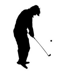 ゴルフシルエット